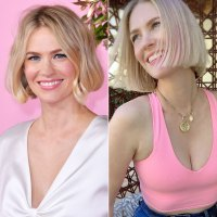 January Jones Hair Change Pink Highlights