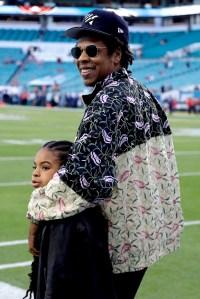 Beyonce Jay Z Take Daughter Blue Ivy To 2020 Super Bowl Pics