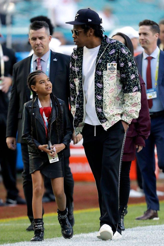 Jay-Z and Blue Ivy Carter Super Bowl NAACP Image Award