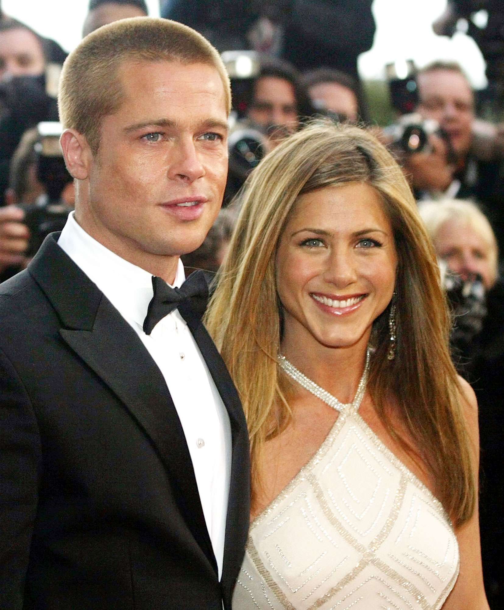 Jennifer Aniston and Brad Pitt in 2004 Think Its Hysterical People Want Them Back Together