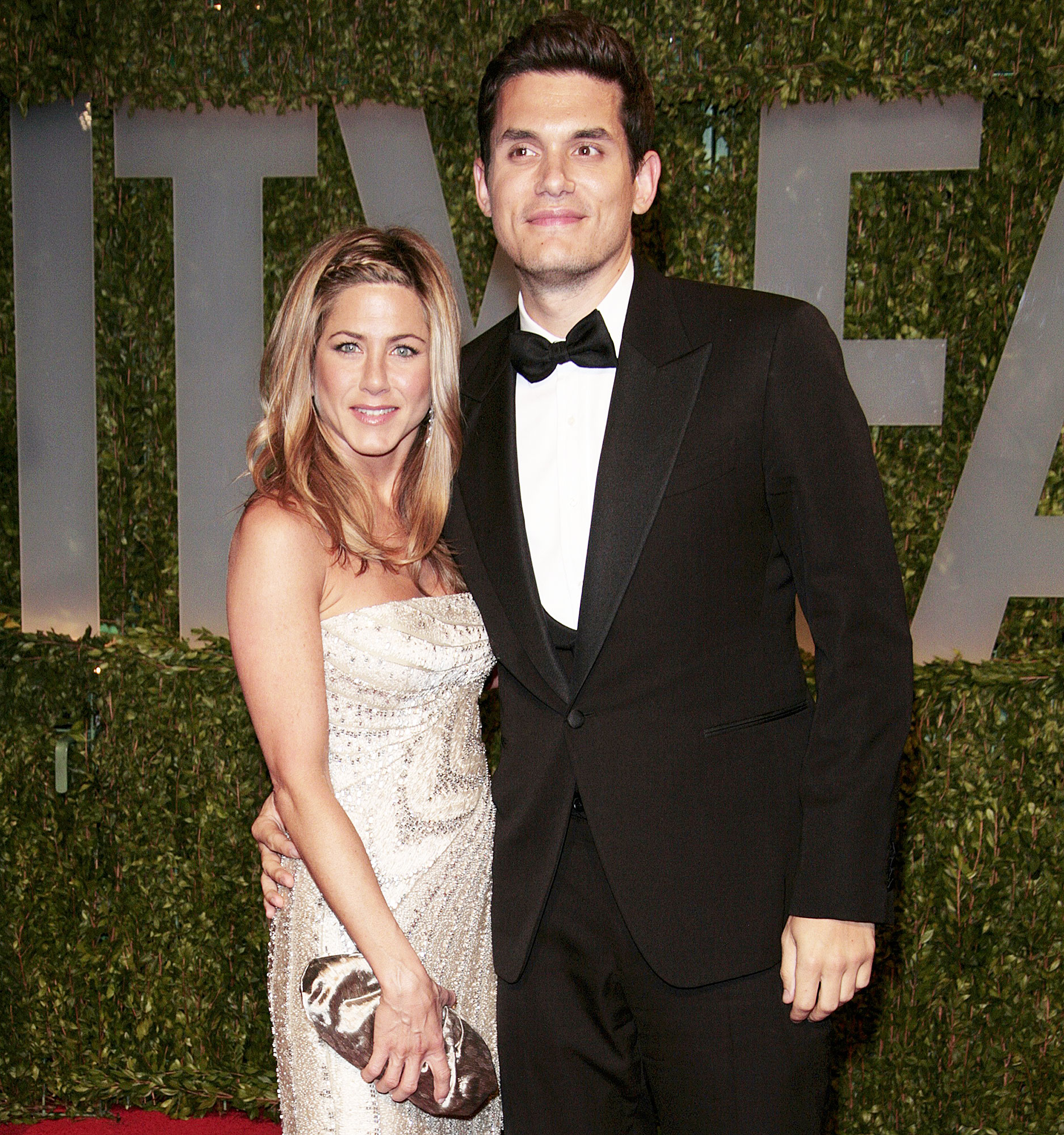 Jennifer Aniston and John Mayer at Academy Awards Vanity Fair Party in 2009 Jennifer Aniston and Ex John Mayer Spotted at Sunset Tower Hotel at the Same Time