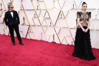 Joaquin Phoenix and Rooney Mara Couples PDA Academy Awards Oscars 2020