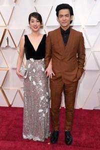 John Cho and Kerri Higuchi Couples PDA Academy Awards Oscars 2020