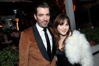Jonathan Scott and Zooey Deschanel attend the CAA Pre-Oscar Party
