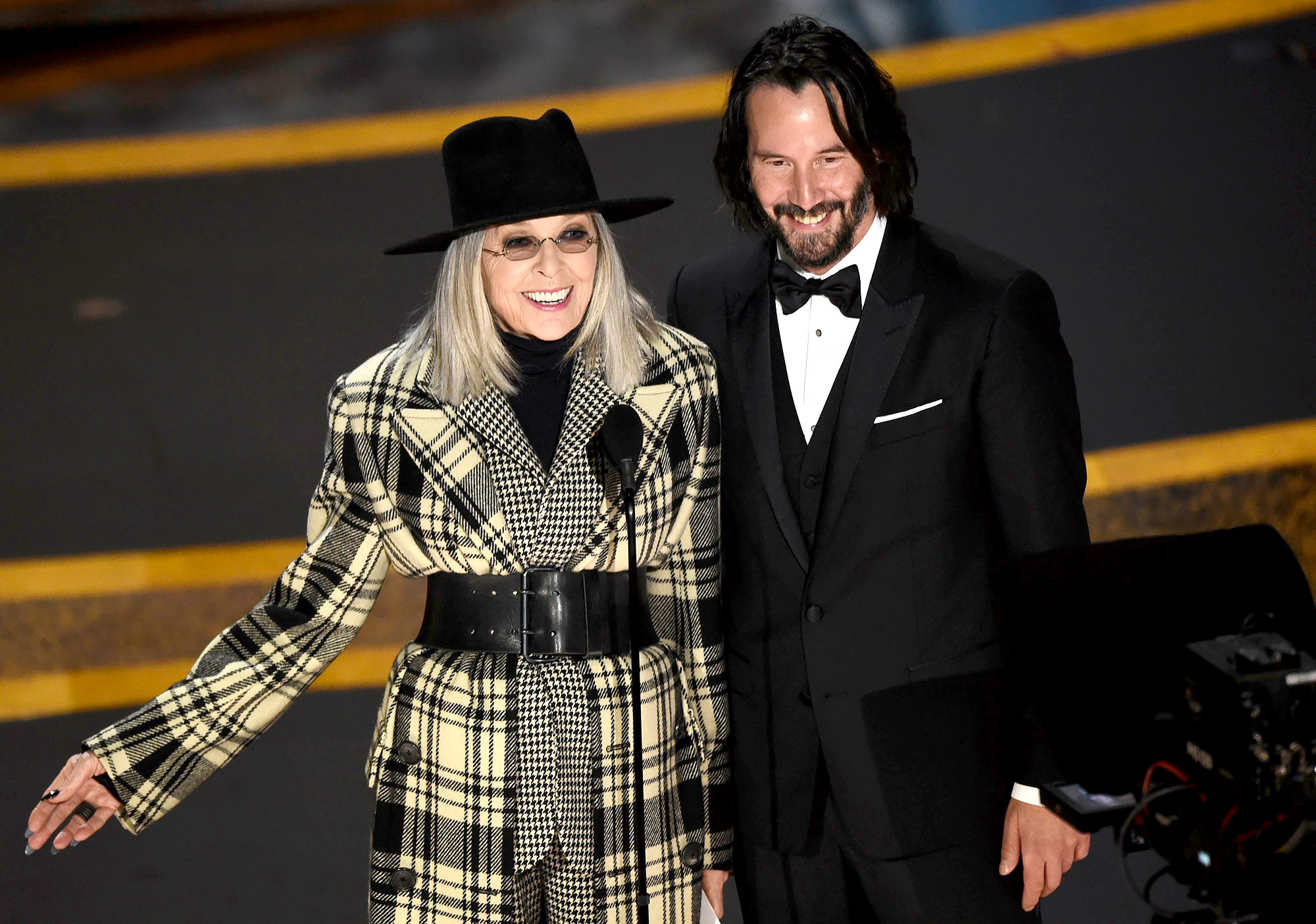 Keanu and Diane Keaton Have 'Something's Gotta Give' Reunion