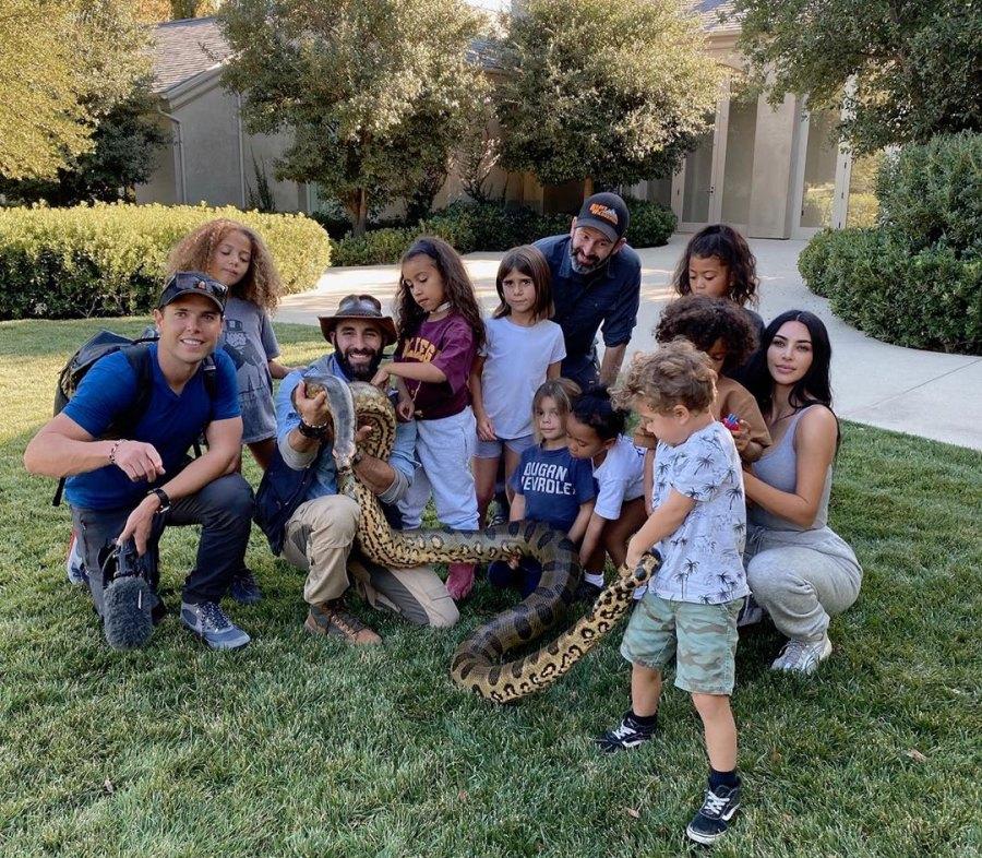 Kim Kardashian's Fearless Kids Play With Tarantulas, Snakes and More