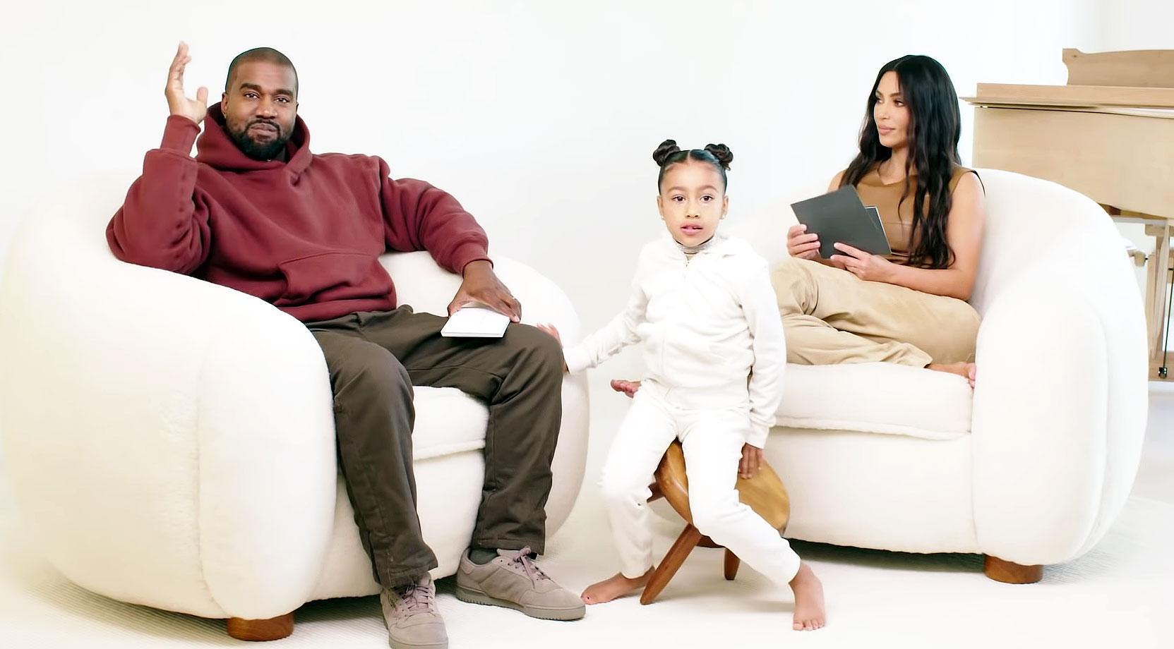 Kim Kardashian Kanye West Daughter North Adorably Crashes Interview