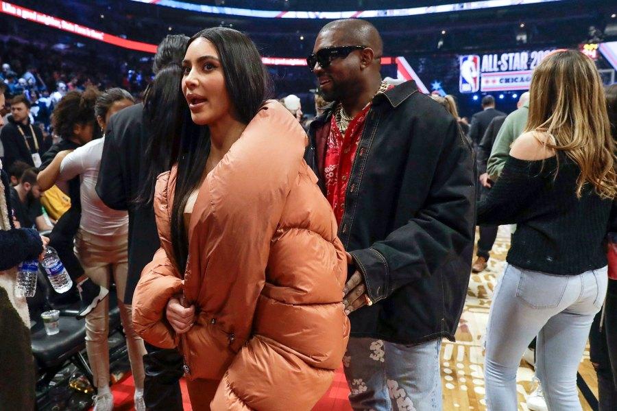 Kim Kardashian Kanye West Attend Nba All Star Game 2020 Pics