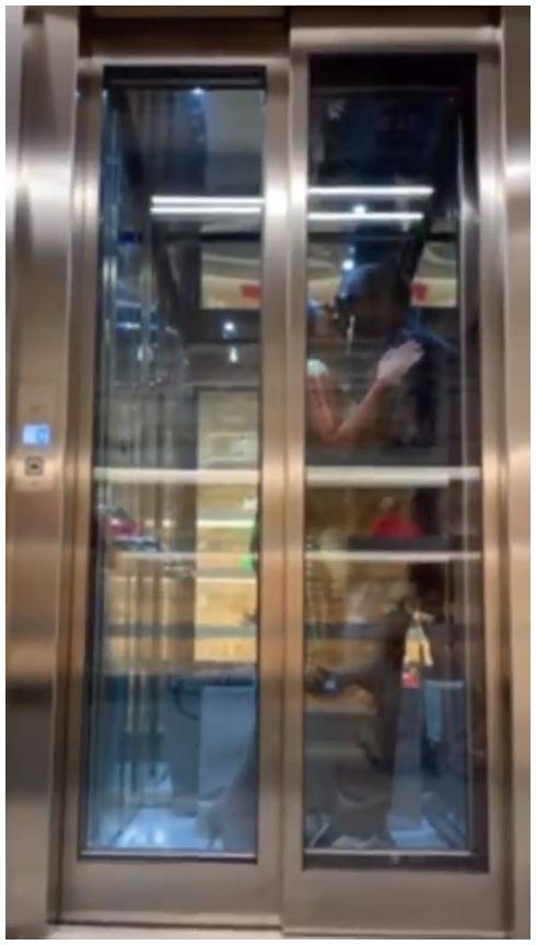 Kim Kardashian and Kanye West Share a Steamy Elevator Kiss in Paris Instagram