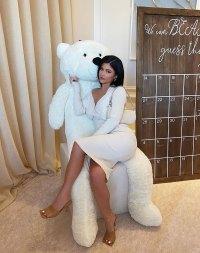 Kylie Jenner Matches Teddy Bear at Malika Haqq's Baby Shower