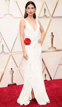 Lily Aldridge Oscars 2020 Look BTS