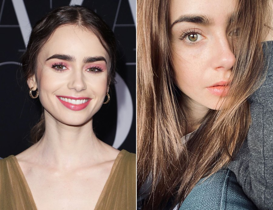Lily Collins Makeup-Free Instagram