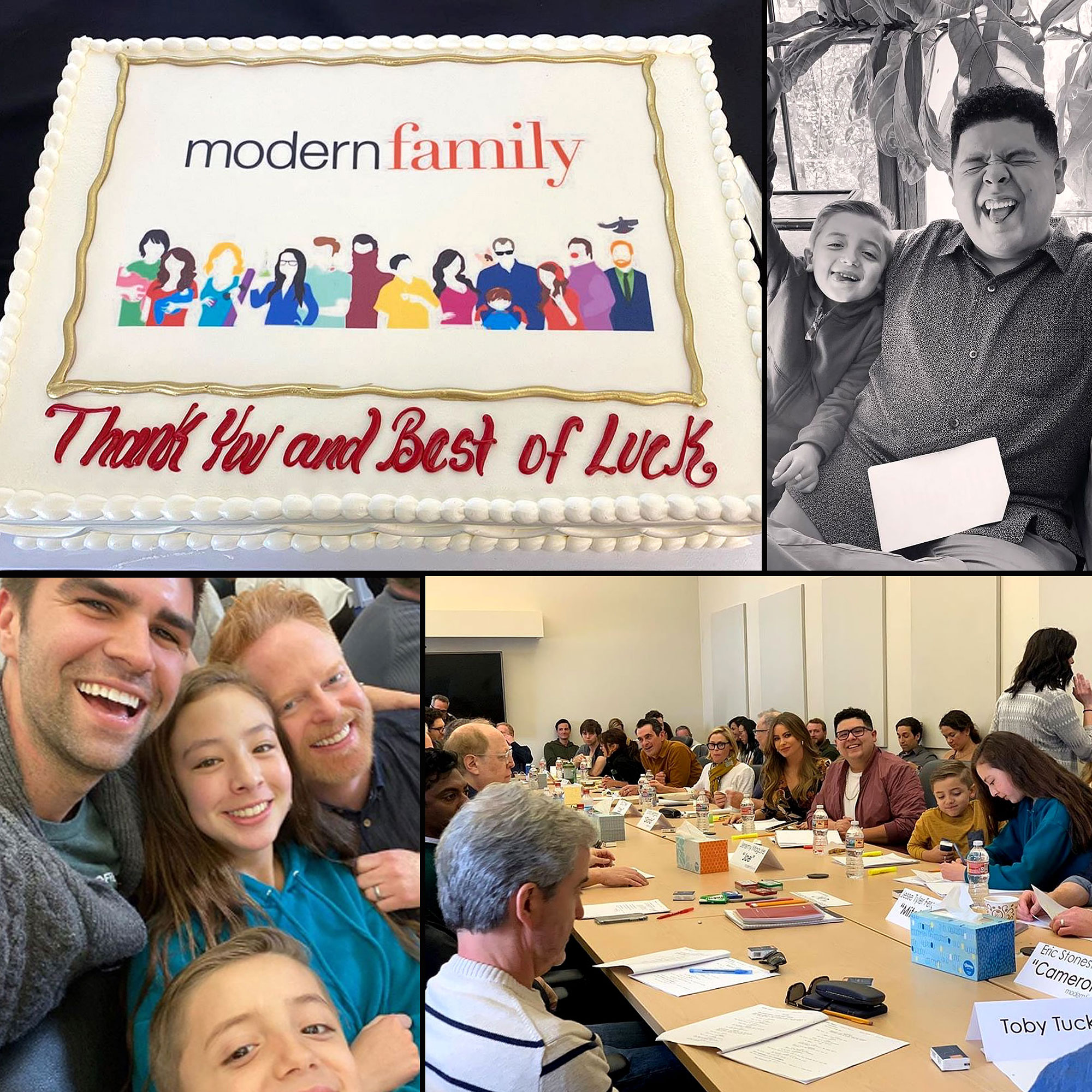A Modern Family modern family' cast reacts to final table read for abc series