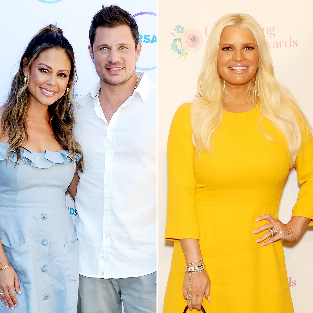 Nick and Vanessa Lachey Awkwardly Deny Sending Jessica Simpson a Gift