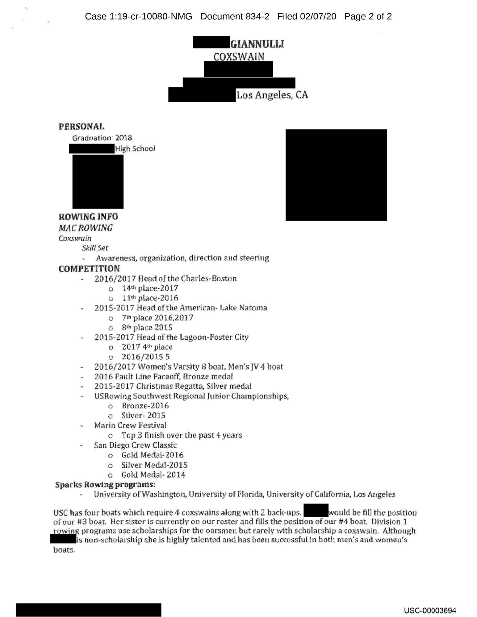Olivia Jade Fake Resume