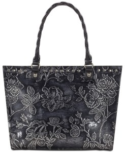Patricia Nash Zancona Metallic Embossed Leather Tote