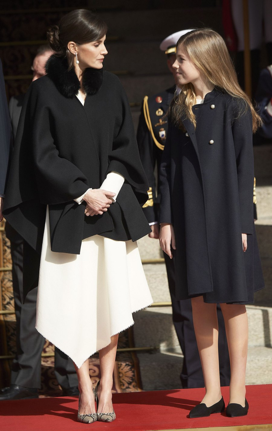 Queen Letizia Asymmetrical Dress February 3, 2020
