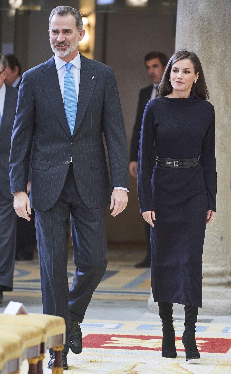 Queen Letizia Black Mididress February 17, 2020