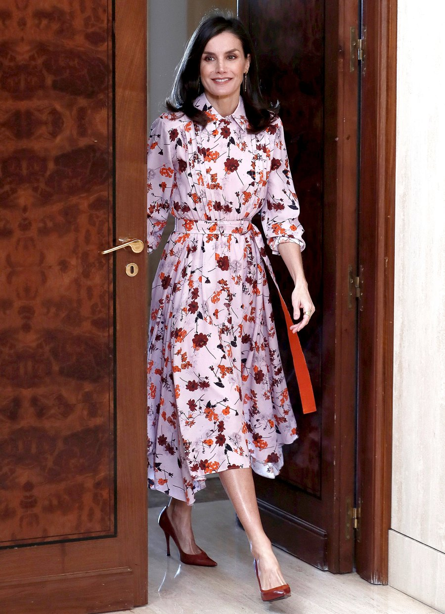Queen-Letizia-Is-a-Vision-of-Elegance-in-Recycled-Floral-Frock