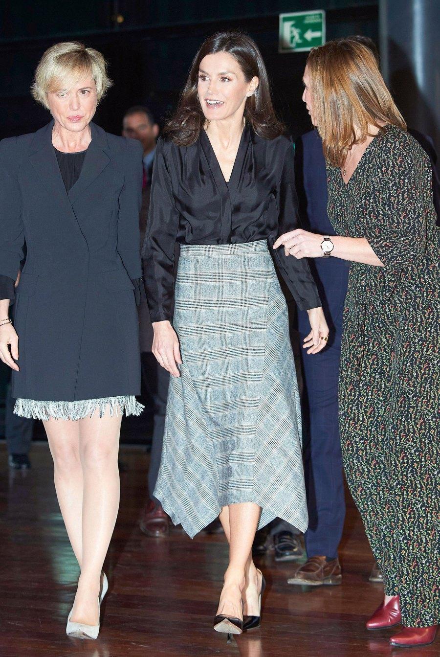 Queen Letizia Plaid Skirt February 11, 2020