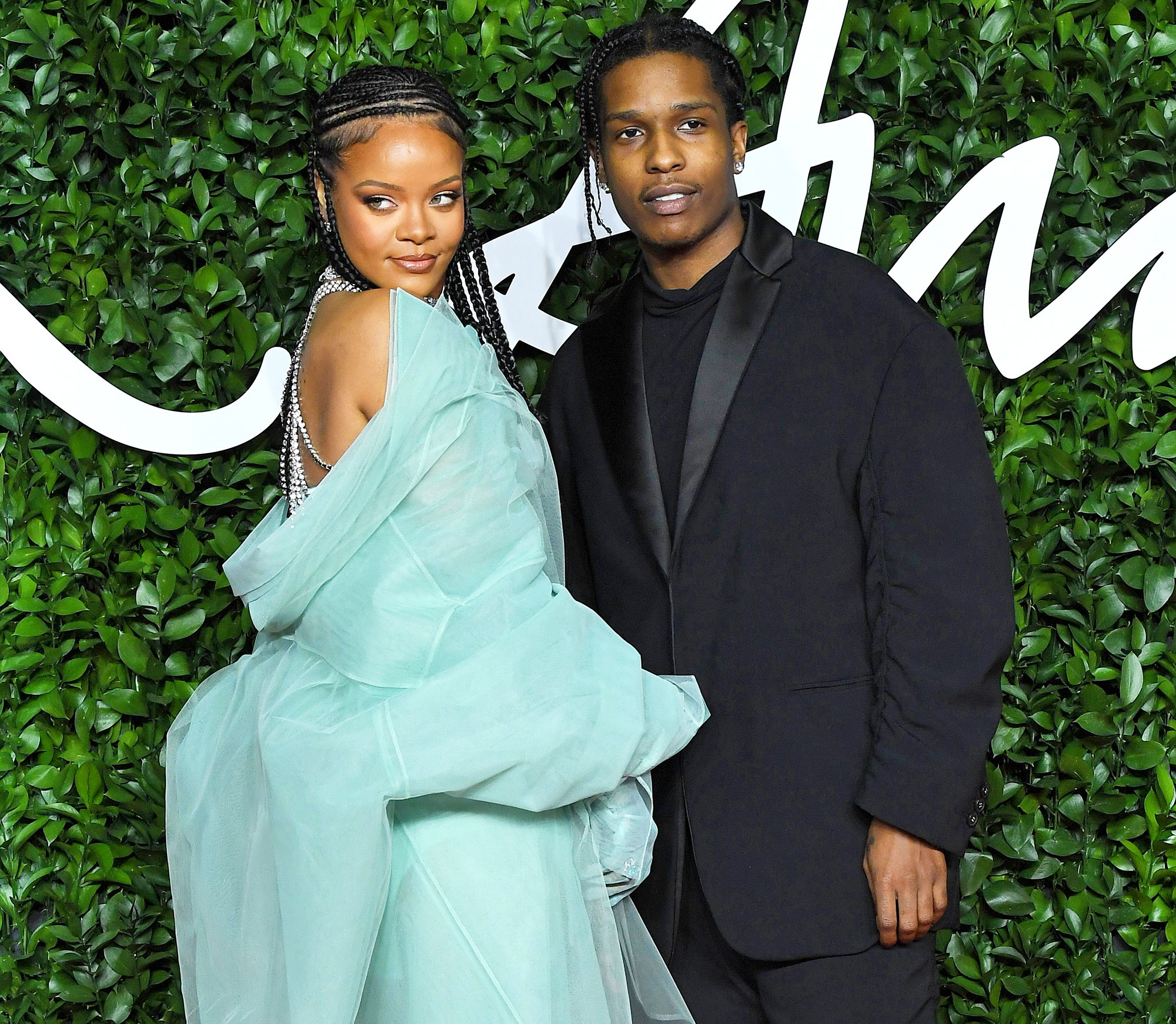 Rihanna and ASAP Rocky at The Fashion Awards Rihanna and A$AP Rocky Are Hooking Up After Her Split From Hassan Jameel