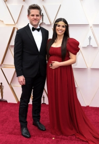 Ryan Piers Williams and America Ferrera Couples PDA Academy Awards Oscars 2020