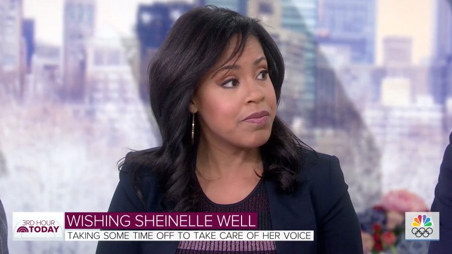 Sheinelle Jones Today Show Vocal Cords
