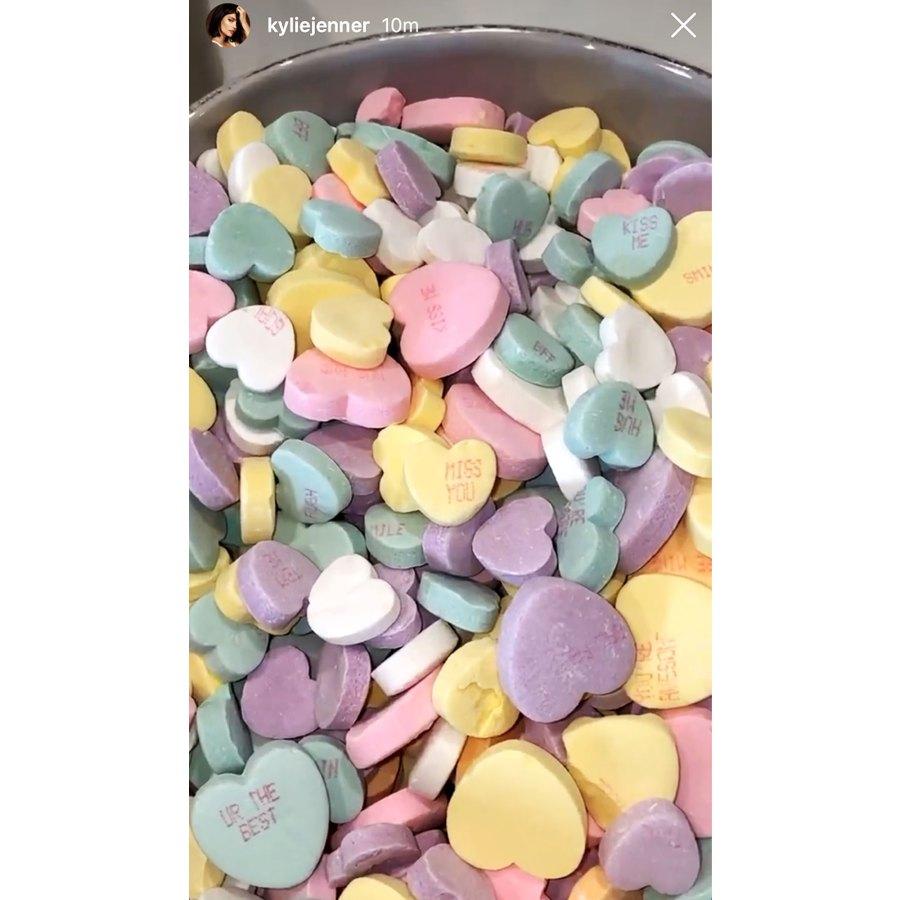 Kylie Jenner Stars Celebrate Valentines Day