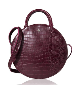 The Lovely Tote Co.Canteen Purse Circle Crossbody Bag (Wine)