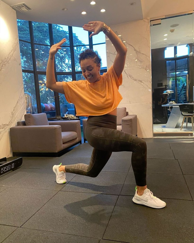 Tia Mowry Embracing Excess Skin and Stretch Marks After Giving Birth Instagram