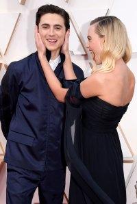 Timothee Chalamet Photobombs Margot Robbie Oscars Red Carpet