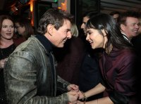 Tom Cruise and Sofia Boutella attend the CAA Pre-Oscar Party