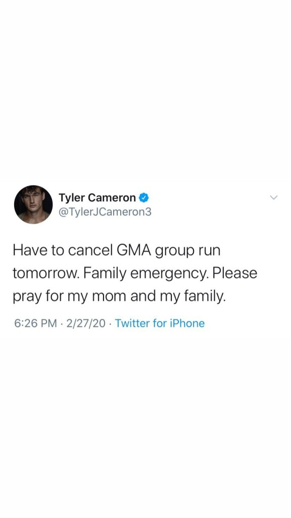 Tyler Cameron Cancel GMA