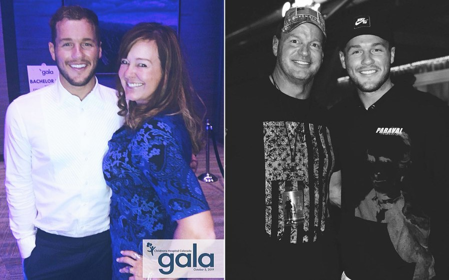 Colton Underwood with his mother and father Revelations From Colton Underwoods Book