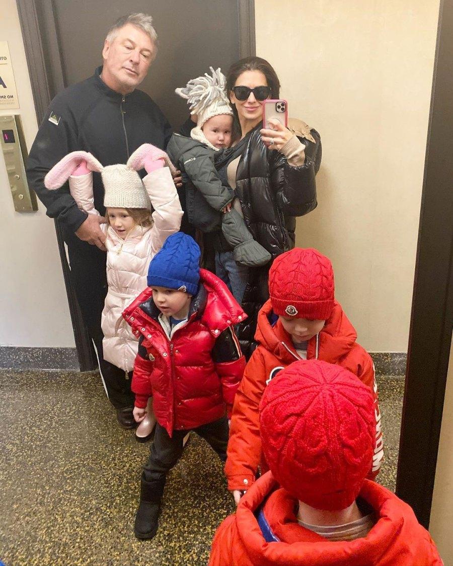 Hilaria Baldwin Alec Baldwin and Kids Celeb Parents Homeschooling Their Kids During Coronavirus Spread