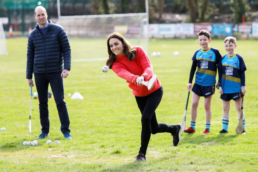 Prince William and Duchess Kate Visit Ireland Trying Hurling