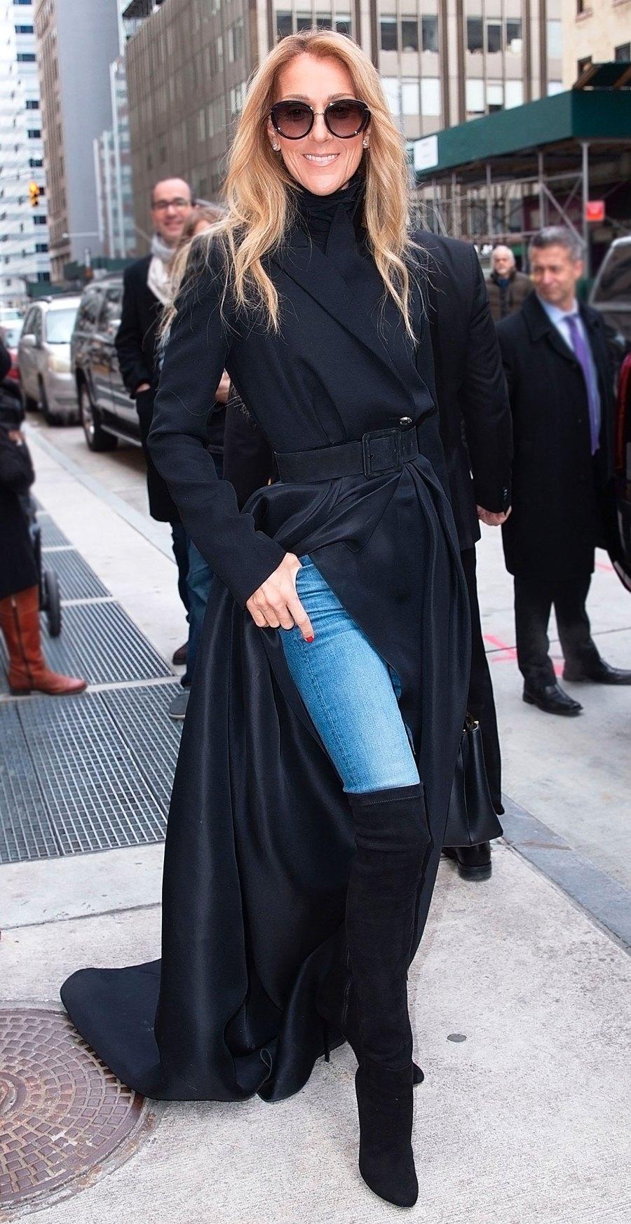 Celine Dion Black Coat February 29, 2020