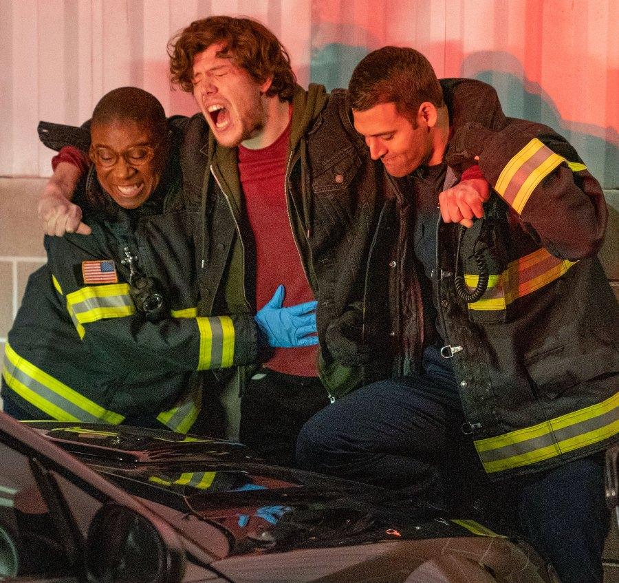 Aisha Hinds, guest star Alexander Neher and Ryan Guzman Teases Eddie Centered Episode 911