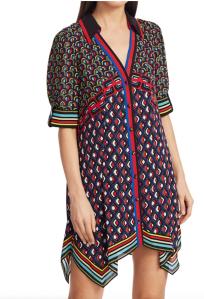 Alice + Olivia Conner Handkercheif Hem Mini Dress