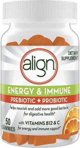 Align Energy and Immune Prebiotics Probiotics Supplement Gummies