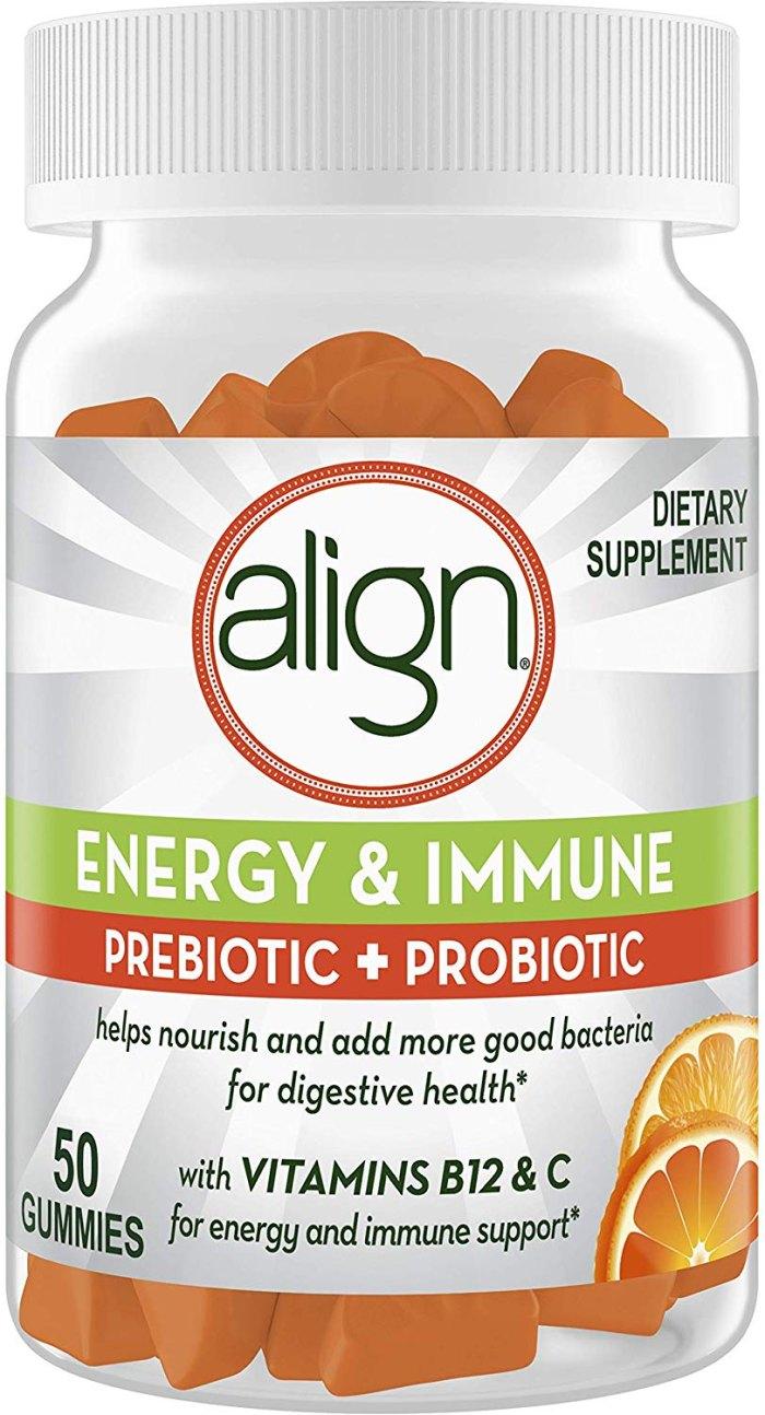 Align Energy and Immune Prebiotics Probiotics Supplement Gummies