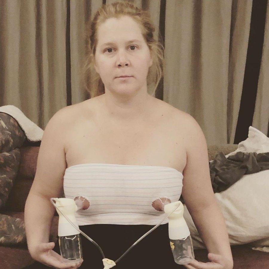 Amy Schumer Instagram Celebrity Moms Pumping Breast Milk