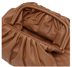 BOKPLD Womens Pouch Dumpling Handbag (Brown)