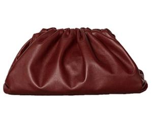 BOKPLD Womens Pouch Dumpling Handbag (Red)