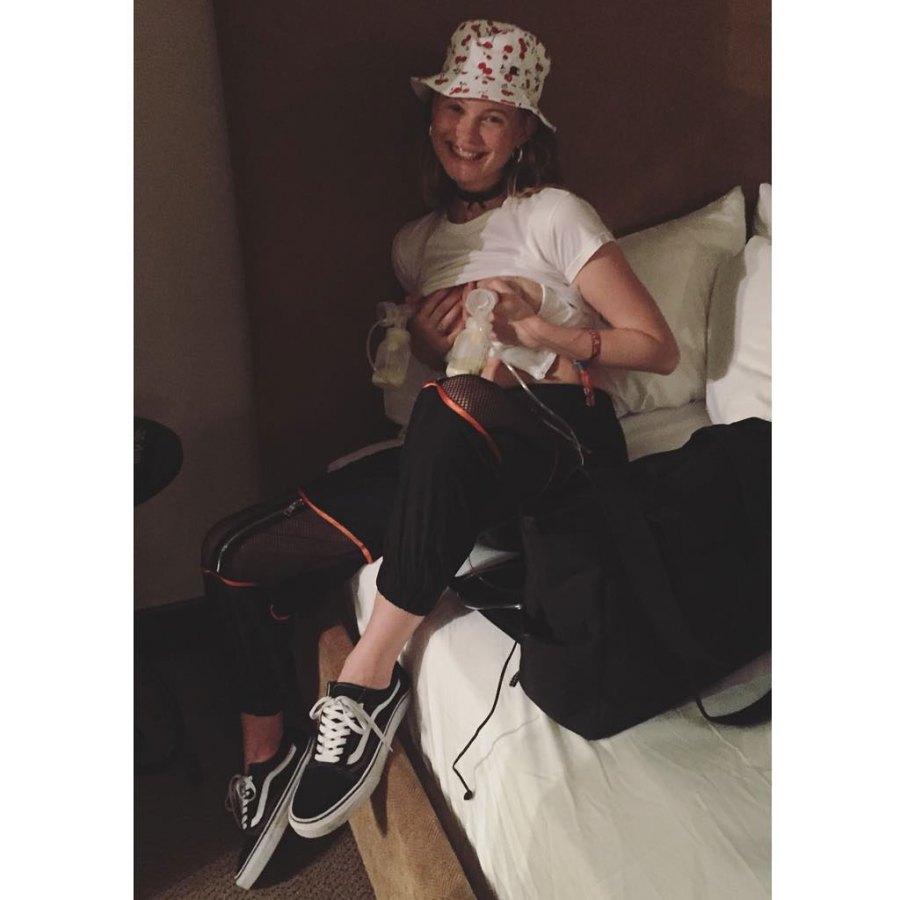 Behati Prinsloo Instagram Celebrity Moms Pumping Breast Milk
