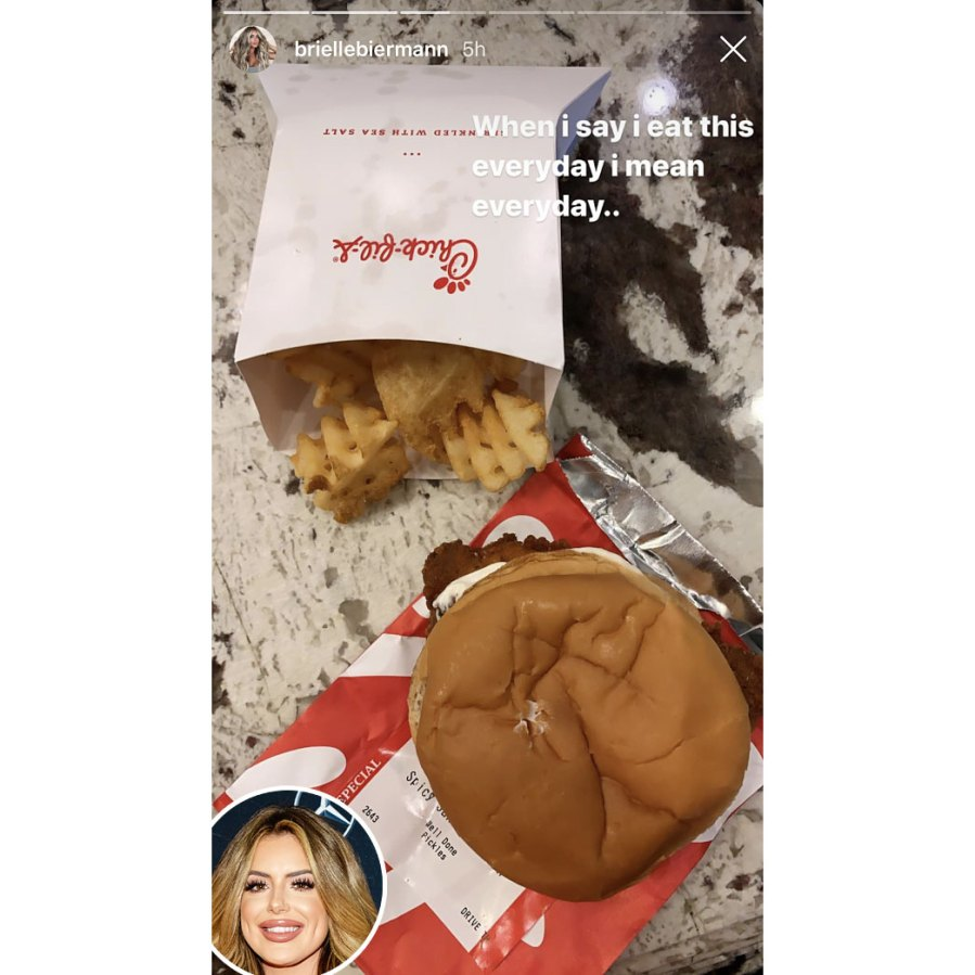 Brielle Biermann Intermittent Fasts With Chick-fil-A