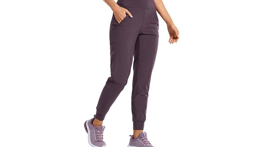 CRZ YOGA Women's Double Layer Jogger Sweatpants