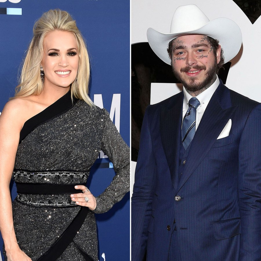 Carrie Underwood Hangs Out With Post Malone After His Concert