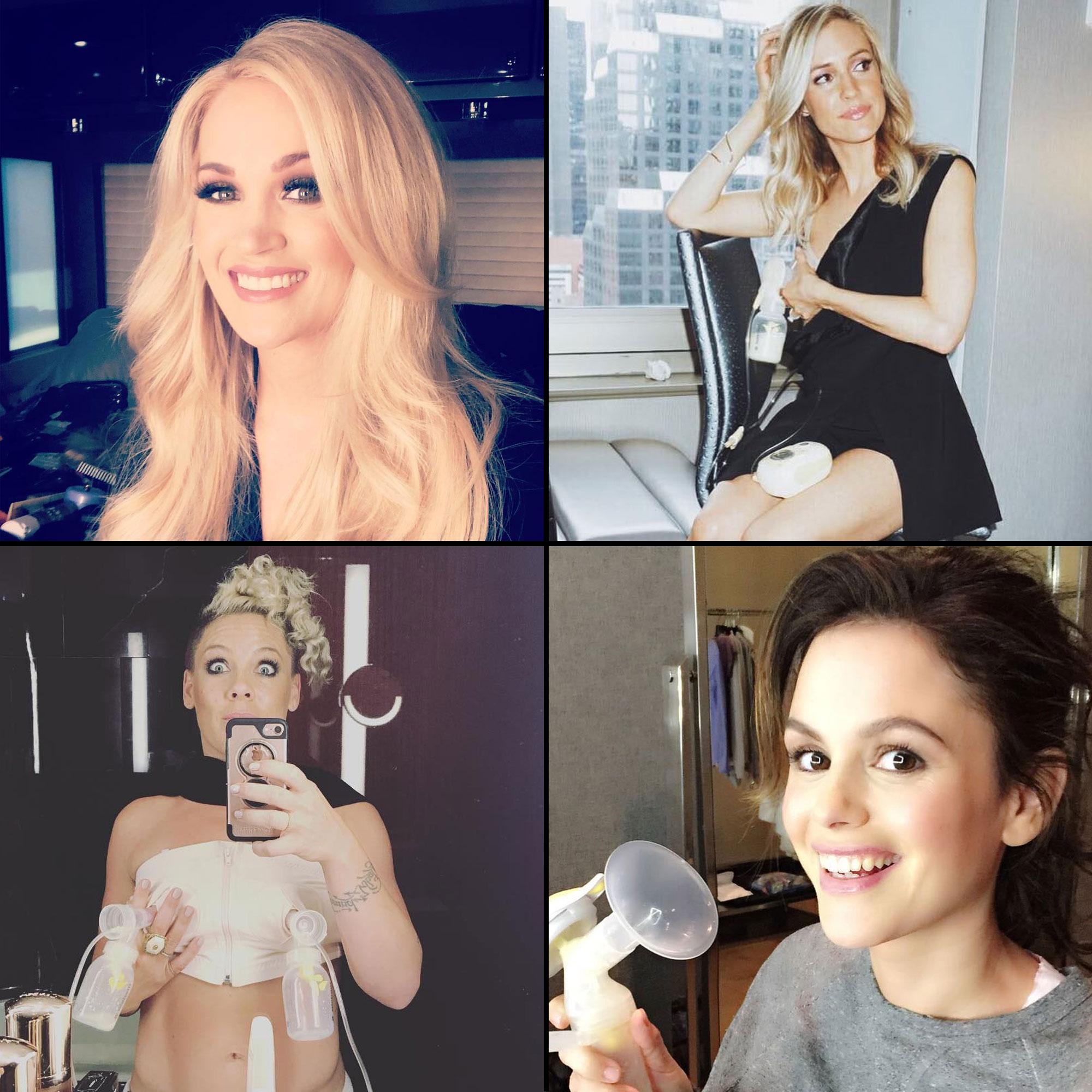 Hot female celebrities with big boobs Rachel Bilson More Celebrity Moms Pumping Breast Milk Photos