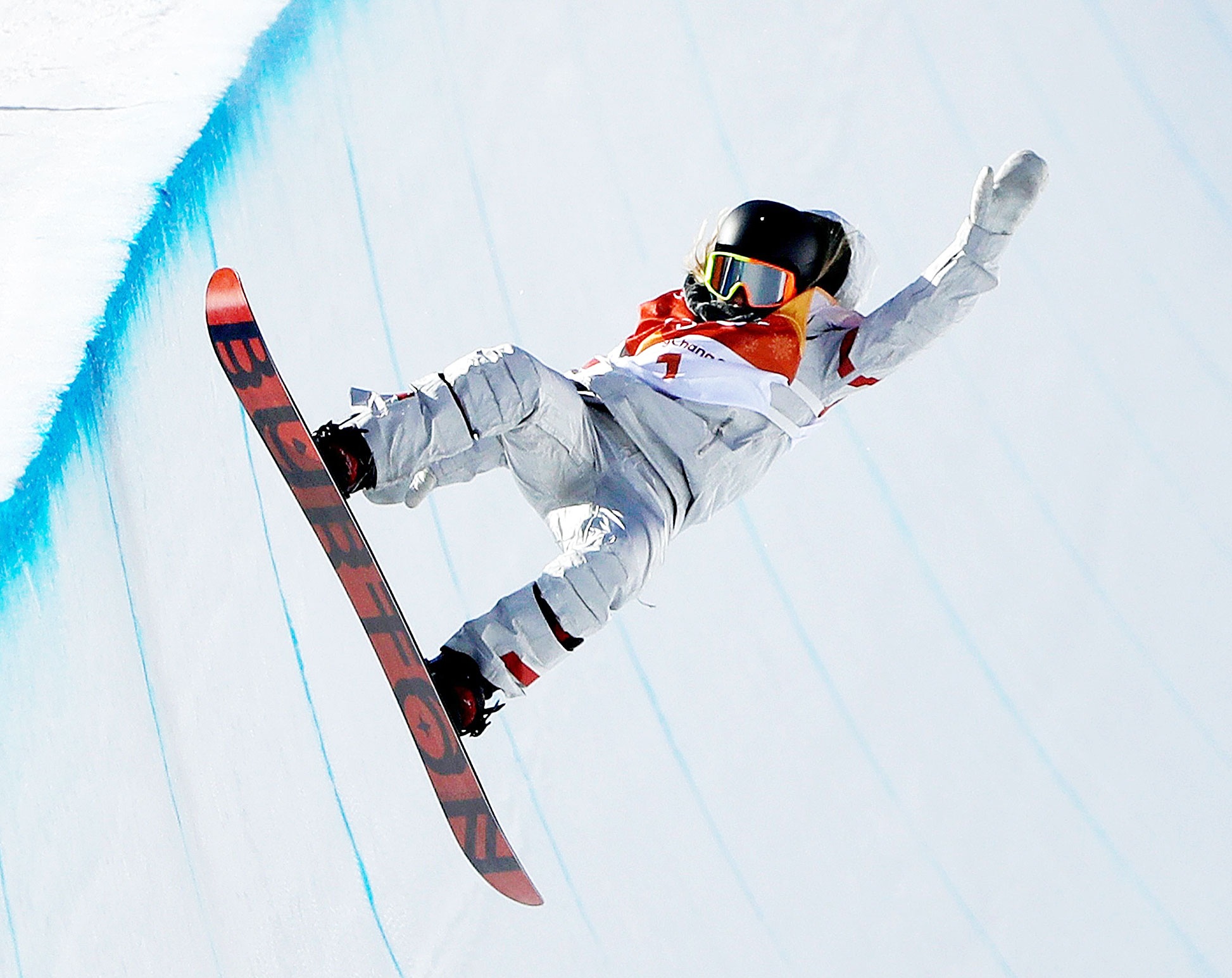 Chloe Kim During the Womens Halfpipe Finals at the 2018 Winter Olympic Games